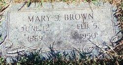 Mary J <i>Kidd</i> Brown
