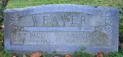Alice Charlotte <i>Hanson</i> Weaver