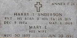 Pvt Harry Thomas Anderson