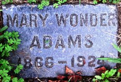 Mary <i>Wonder</i> Adams