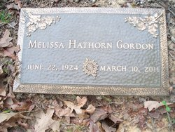 Mrs Melissa <i>Hathorn</i> Gordon
