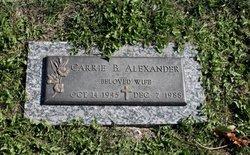 Carrie B Alexander