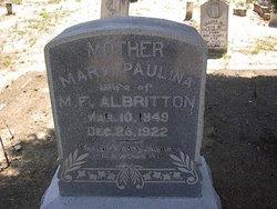 Mary Pauline <i>Gray</i> Albritton