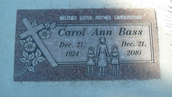 Carol Ann <i>Winget</i> Bass