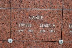 Clara M Cable