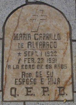 Maria <i>Carrillo</i> Alvarado