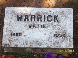 Watie Iona <i>Stubbs</i> Warrick