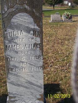 Julia Ann <i>Harlan</i> Hayes