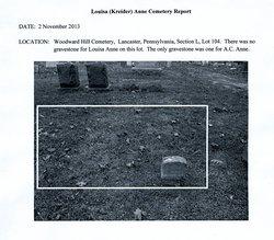 Louisa Louisa <i>Kreider</i> Anne