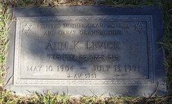 Ann <i>Katz</i> Levick