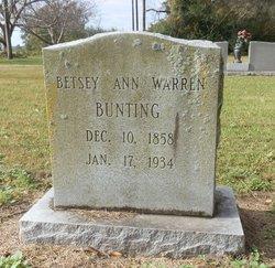 Betsy Ann <i>Warren</i> Bunting