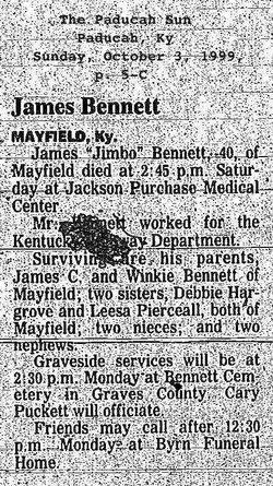 James G Jimbo Bennett
