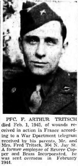 PFC F Arthur Tritsch