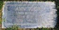 Anna Ann <i>Levison</i> Topper