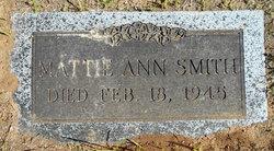 Martha Ann Mattie <i>Renfroe</i> Smith