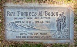 Rev Frances Anthonette <i>Bloczynski</i> Bauer