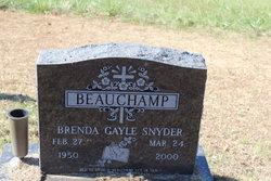 Brenda Gayle <i>Snyder</i> Beauchamp