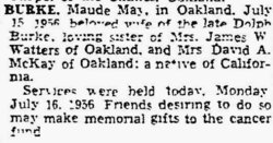 Maude May <i>Jackson</i> Burke