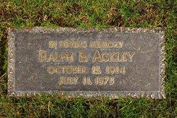 Ralph E Ackley