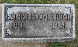 Mary Esther Esther <i>Hoover</i> Boyd