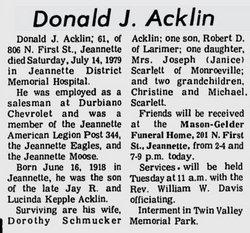 Donald Acklin