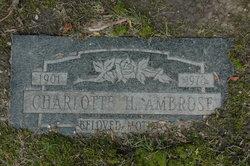 Charlotte Hilda Albertina <i>Metz</i> Ambrose