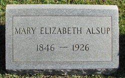 Mary Elizabeth <i>Whitworth</i> Alsup