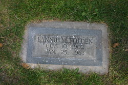 Fannie M. Folden