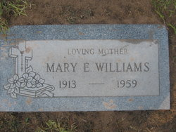 Mary E <i>McElroy</i> Williams