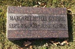 Margaret <i>Hefley</i> Guthrie