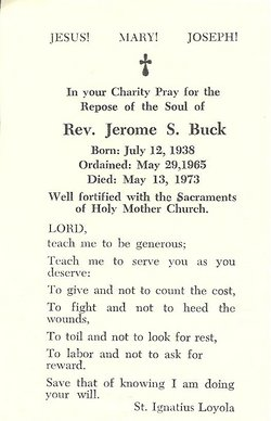 Rev Jerome S. Buck