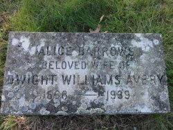 Alice Anna <i>Barrows</i> Avery