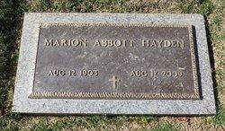 Marion Abbott <i>Mantine</i> Hayden