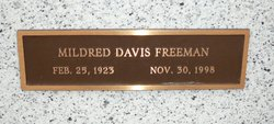 Mildred Oglathia <i>Davis</i> Freeman
