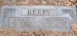 Henrietta <i>Credille</i> Berry