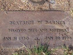 Beatrice W Barnes