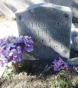 Alice M <i>Hankins</i> Allen