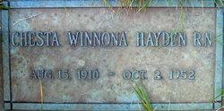 Chesta Winnona Hayden