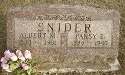 Pansey E. <i>Webster</i> Snider