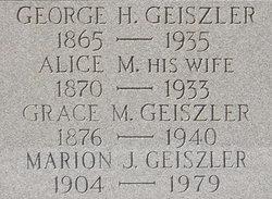 Alice M <i>Meany</i> Geiszler