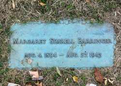 Margaret <i>Simrell</i> Barringer
