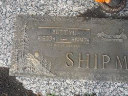Bettye Jo <i>Thomas</i> Shipman