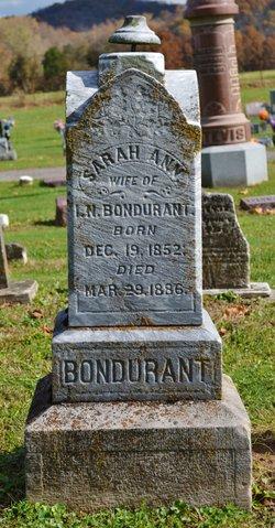 Sarah Ann <i>Brooks</i> Bondurant