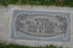 Anna Amelia <i>Gauwitz</i> Hicken