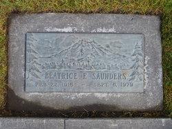 Beatrice Frances <i>Doyle</i> Saunders
