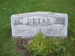 Rosetta Belle Rosie <i>Laughner</i> Detar