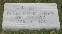 Fannie Russell <i>Bunch</i> Brown