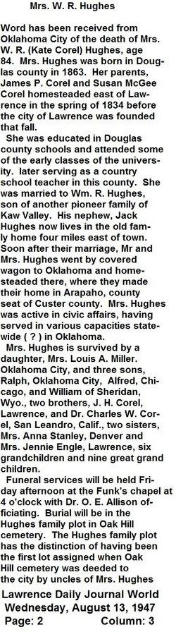 Kate <i>Corel</i> Hughes