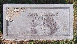 Catherine <i>Kreider</i> Buchanan