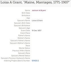 Louisa A <i>Grant</i> Bryant